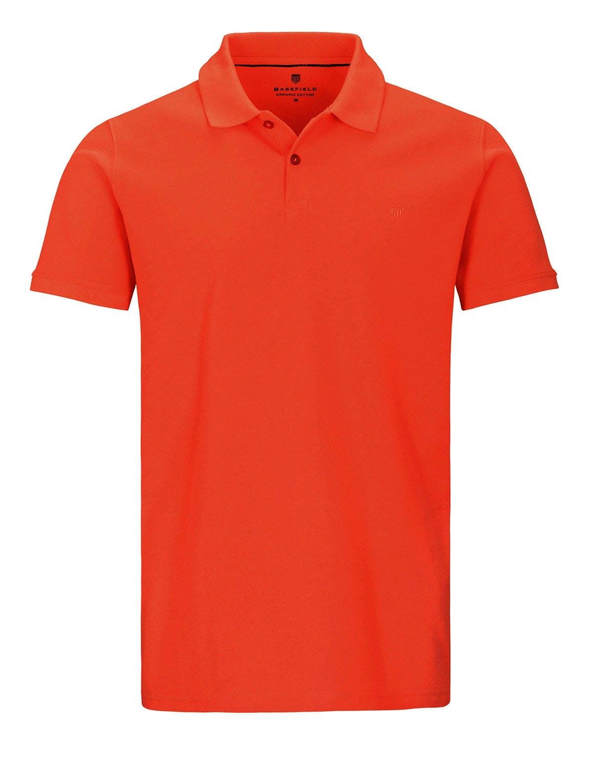 ORGANIC COTTON Polo Pique - Orange
