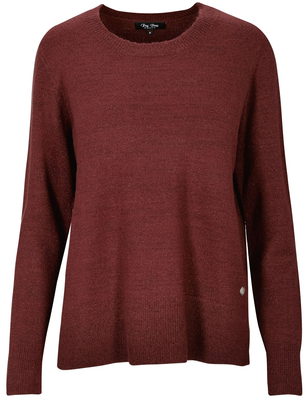 FRY DAY Rundhals Pullover - Frost Berry Melange
