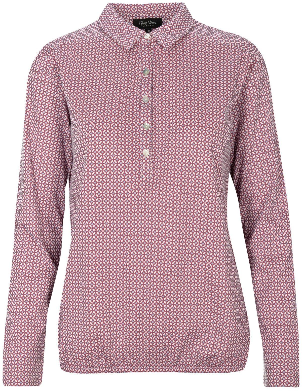 FRY DAY Shirt mit Alloverdruck - Light Rose