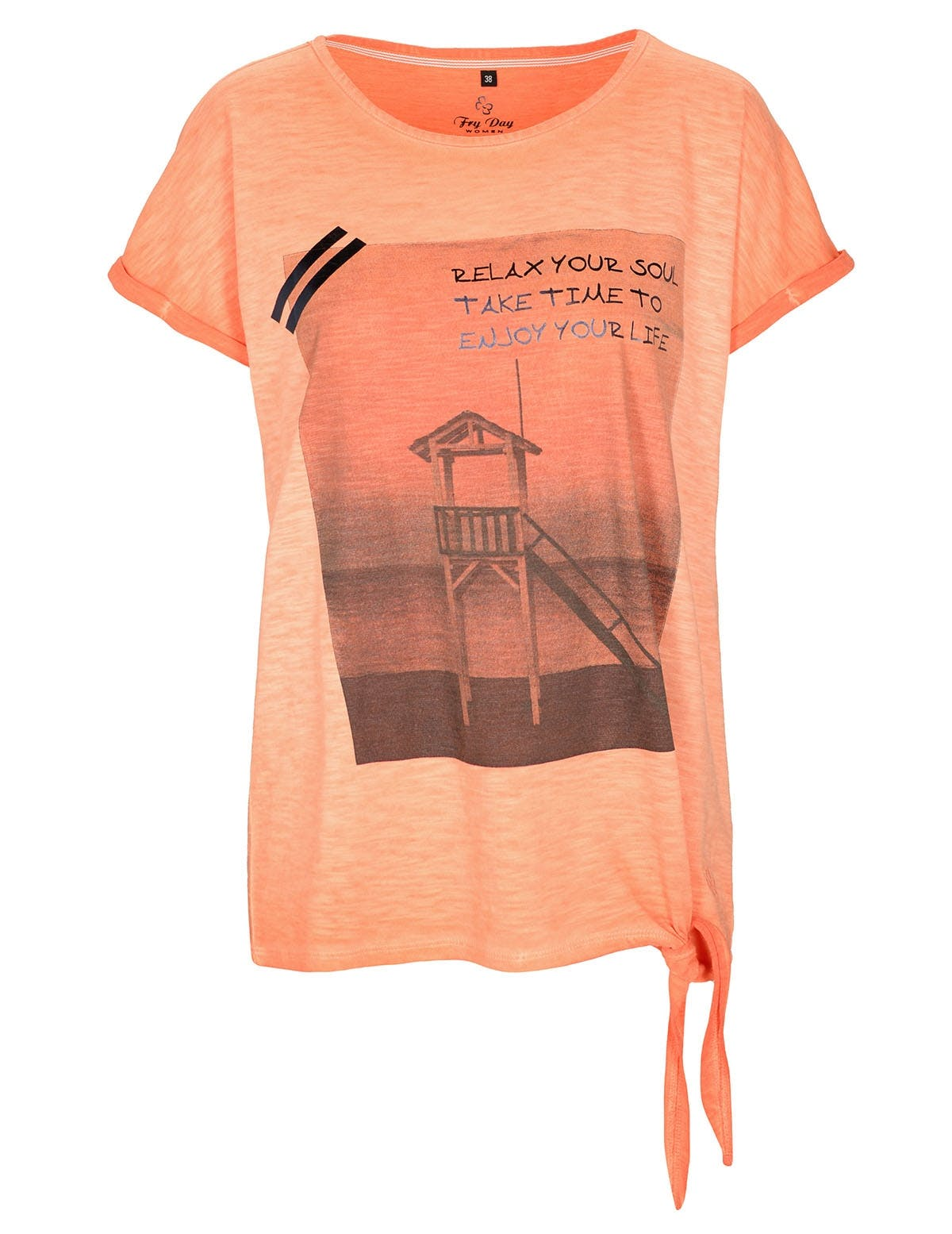 FRY DAY T-Shirt SOUL - Sunset Orange
