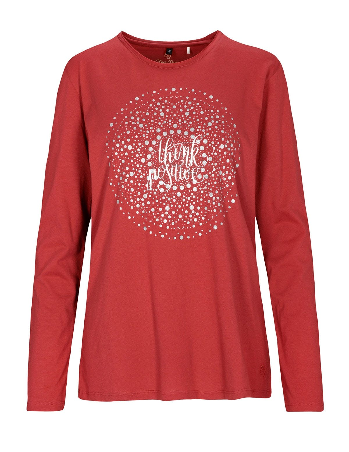 FRY DAY Langarmshirt mit Frontprint - Spicy Red