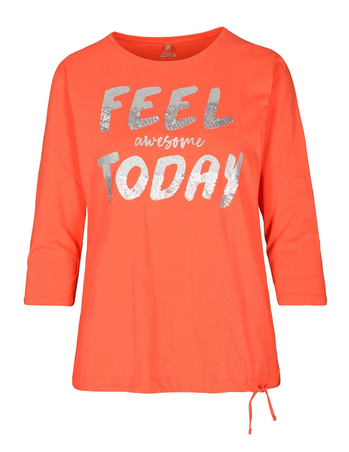 FRY DAY Shirt mit Front-Print - Summer Coral