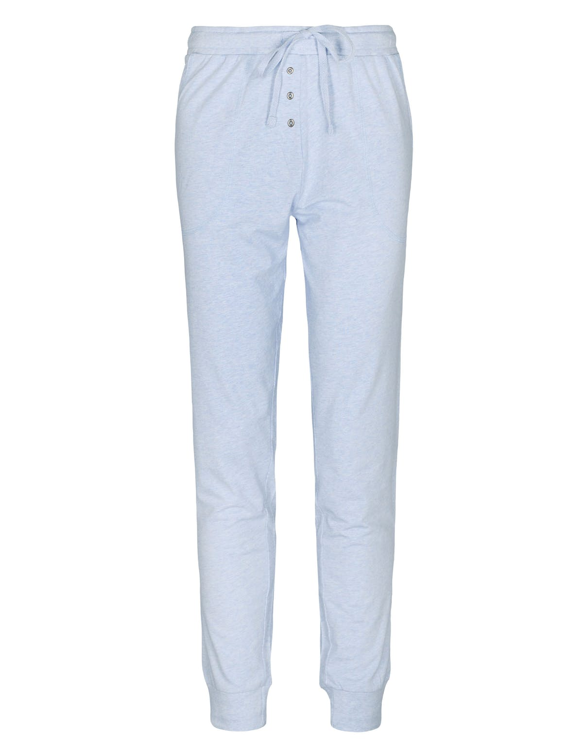 HOMEWEAR Hose mit Bündchen - Bleu Melange
