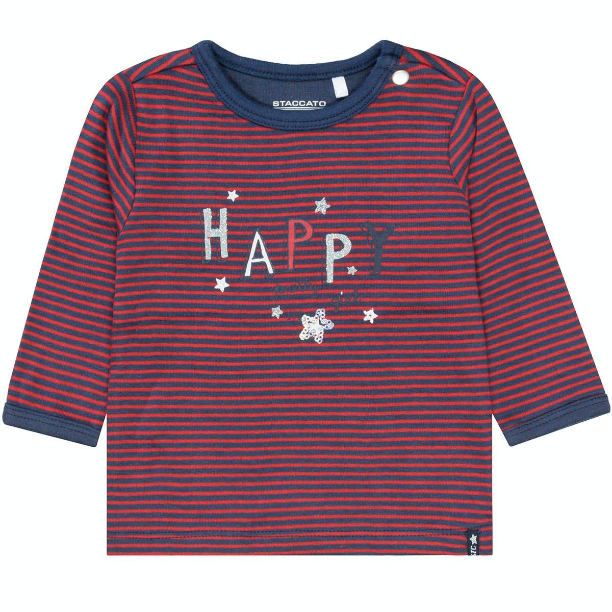 Streifenshirt HAPPY - Winter Red Streifen