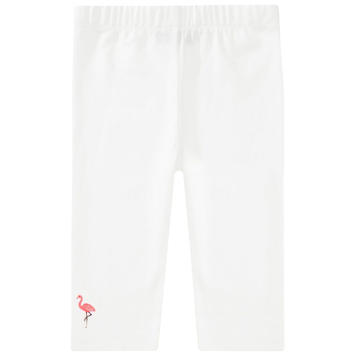BASEFIELD Leggings mit Flamingo - Offwhite