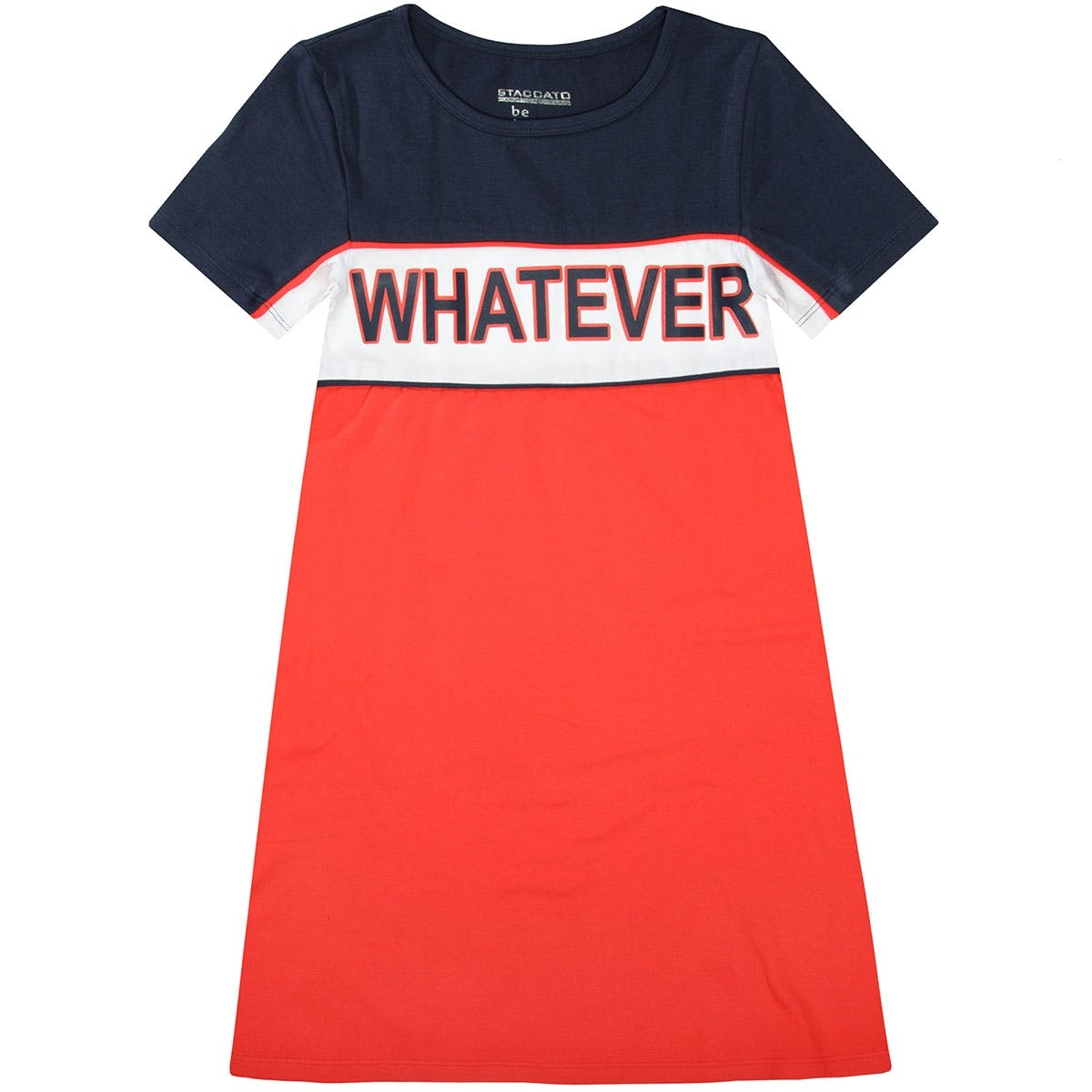T-Shirt Kleid WHATEVER - Red