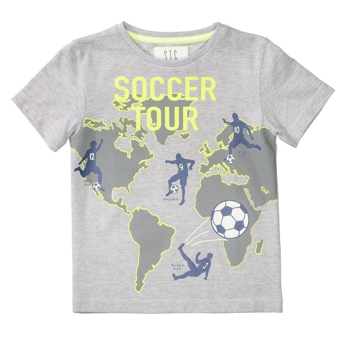 T-Shirt SOCCER TOUR - Grey Melange