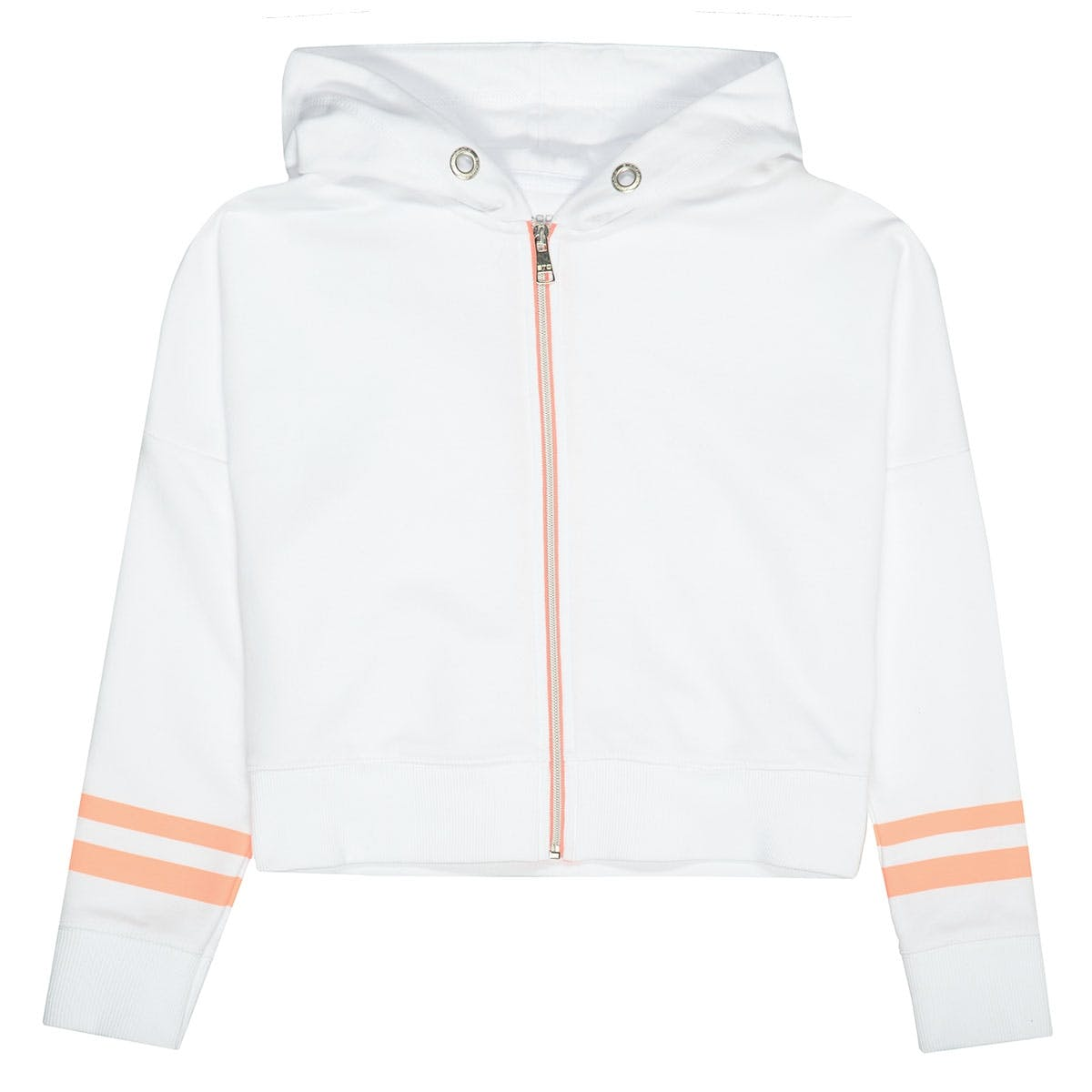 Kapuzensweatjacke Cropped - Soft White