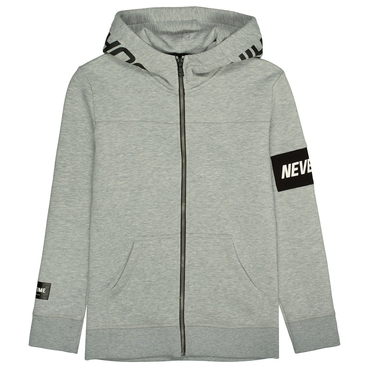 Kapuzensweatjacke RIGHT TIME - Grey Melange