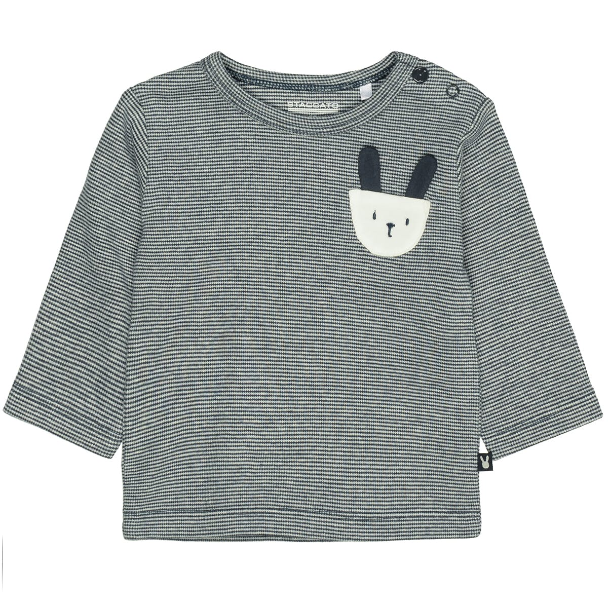 ORGANIC COTTON Streifenshirt Hase - Soft Marine
