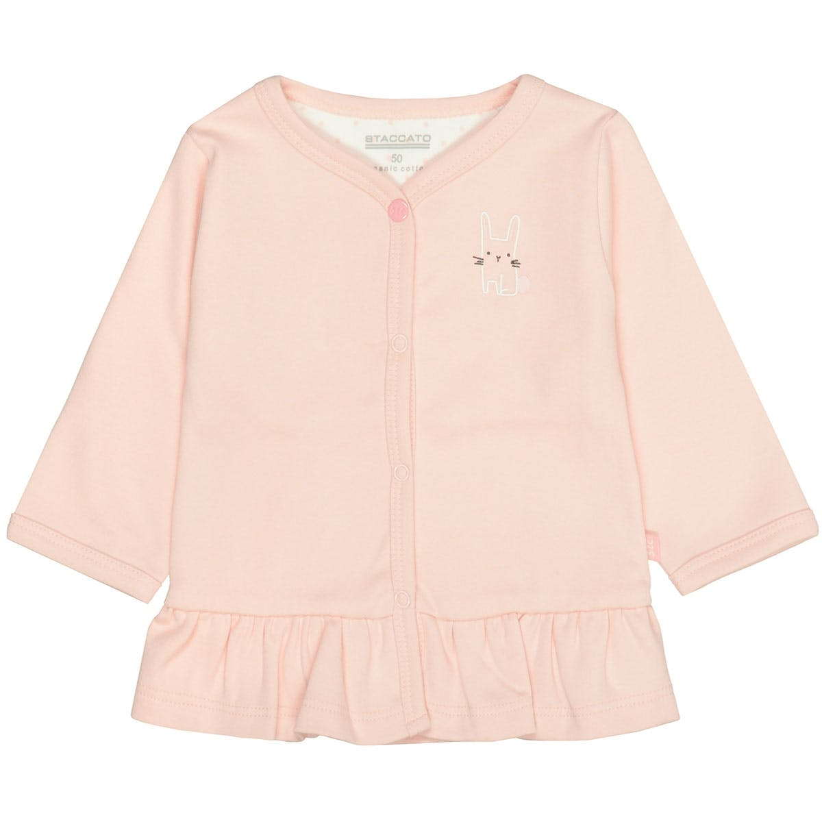 ORGANIC COTTON Jacke Hase - Soft Blush