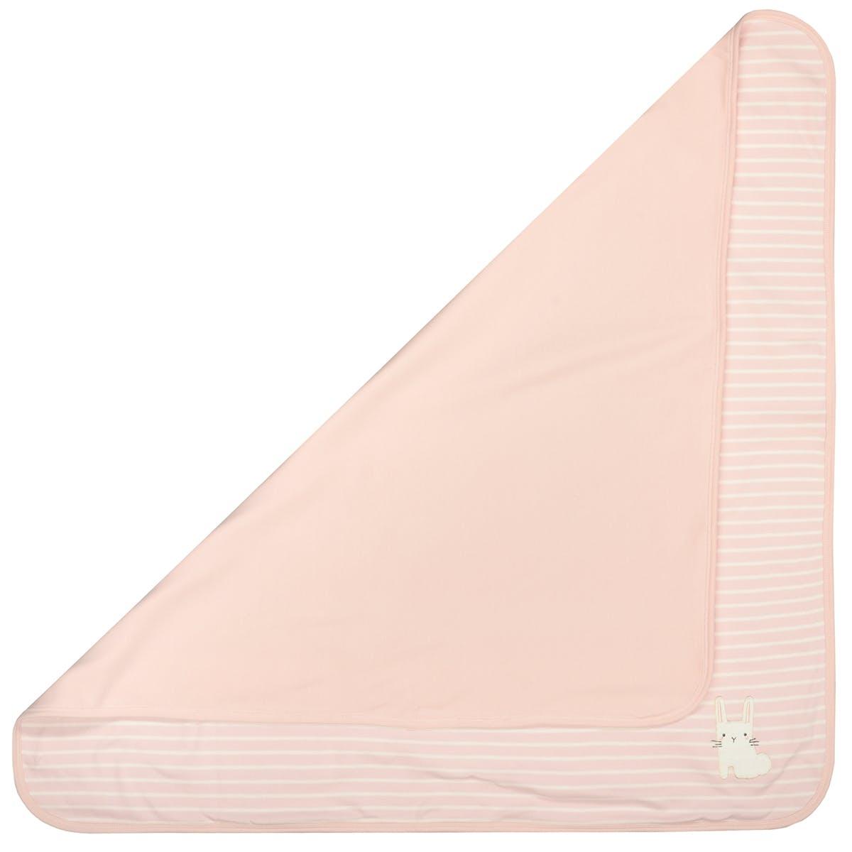 ORGANIC COTTON Decke Hase - Soft Blush