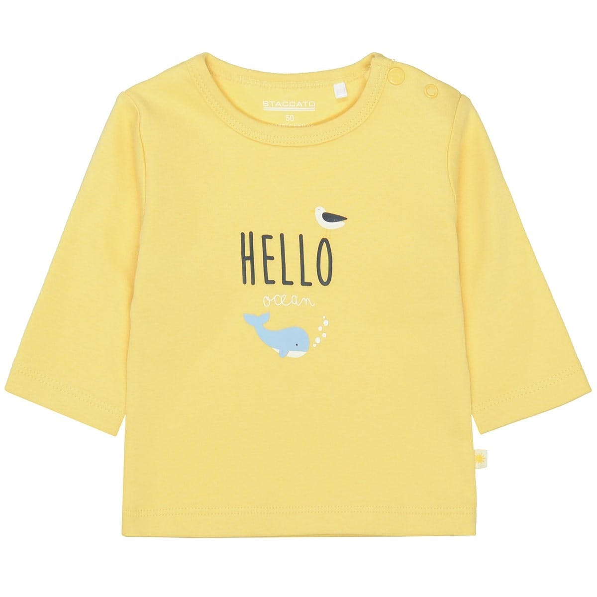 ORGANIC COTTON Langarmshirt mit Print - Yellow