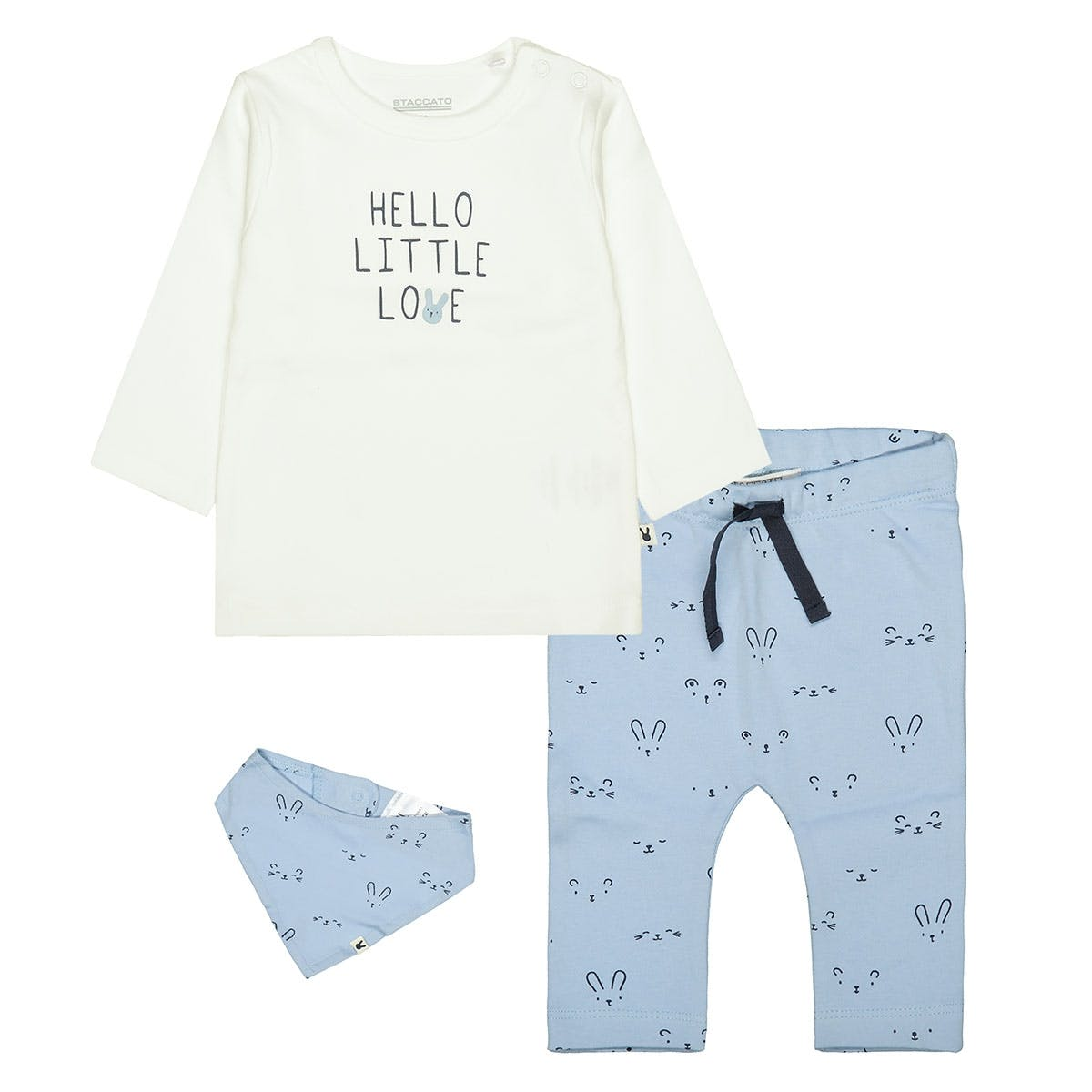 ORGANIC COTTON Geschenkset LITTLE LOVE - Sky Offwhite