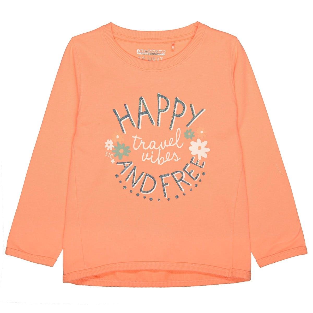 Sweatshirt mit Print - Light Orange