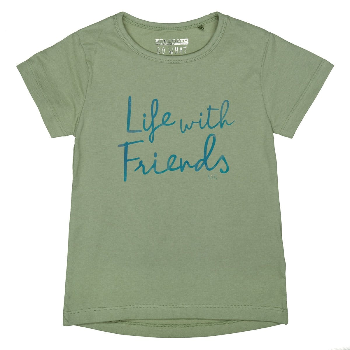 T-Shirt mit Wording - Khaki
