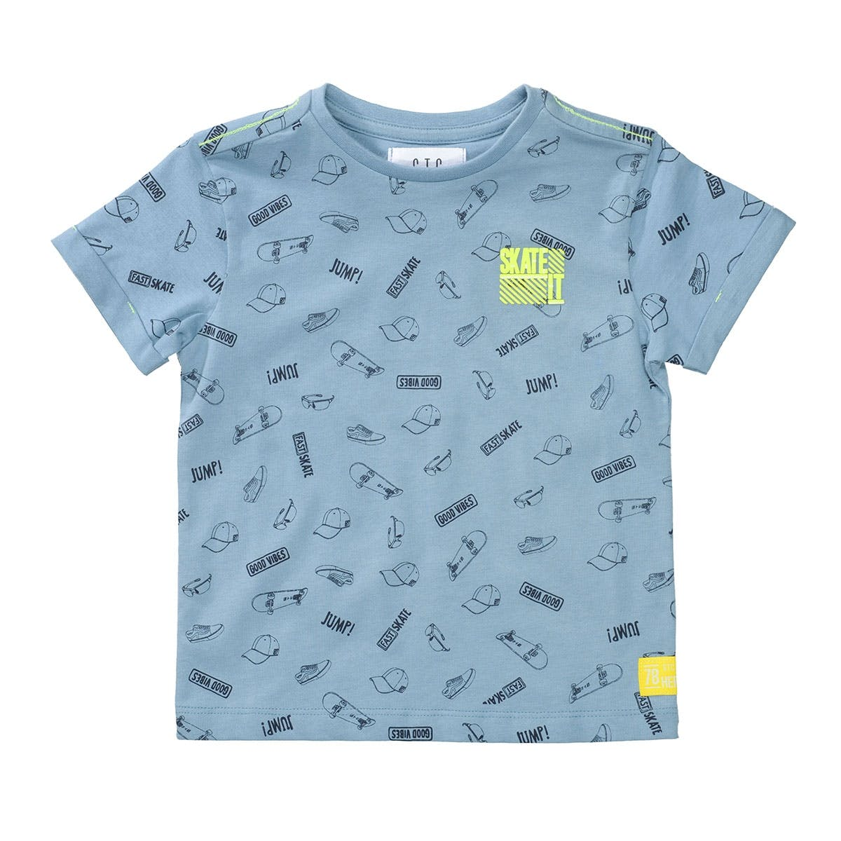 T-Shirt SKATE IT Slim Fit - Light Blue