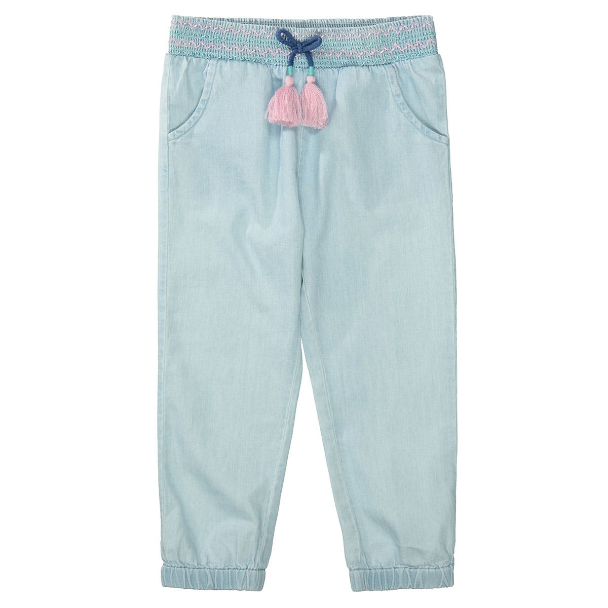 Jumper-Pants in Denim-Optik - Light Blue Denim