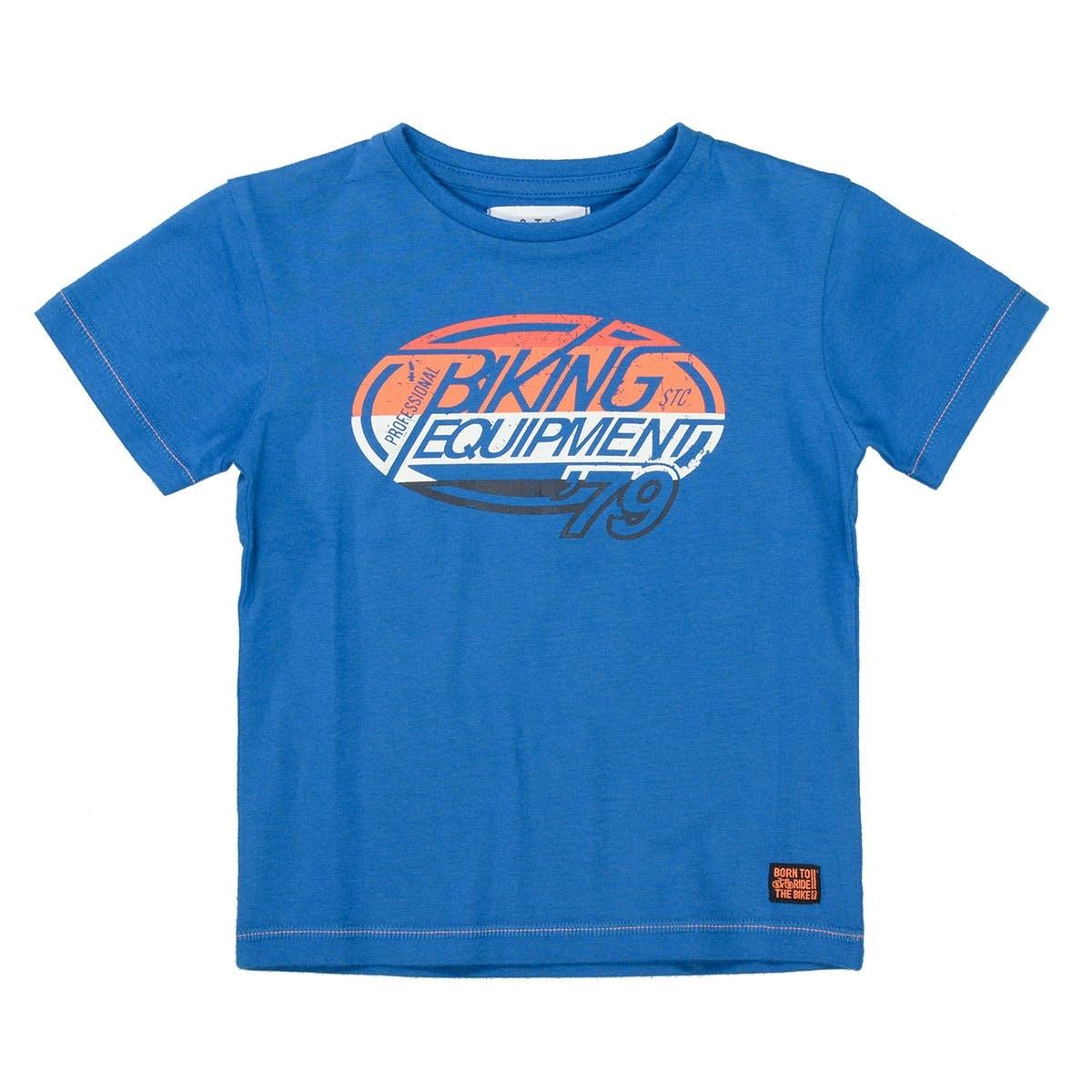 T-Shirt BIKE - Blue