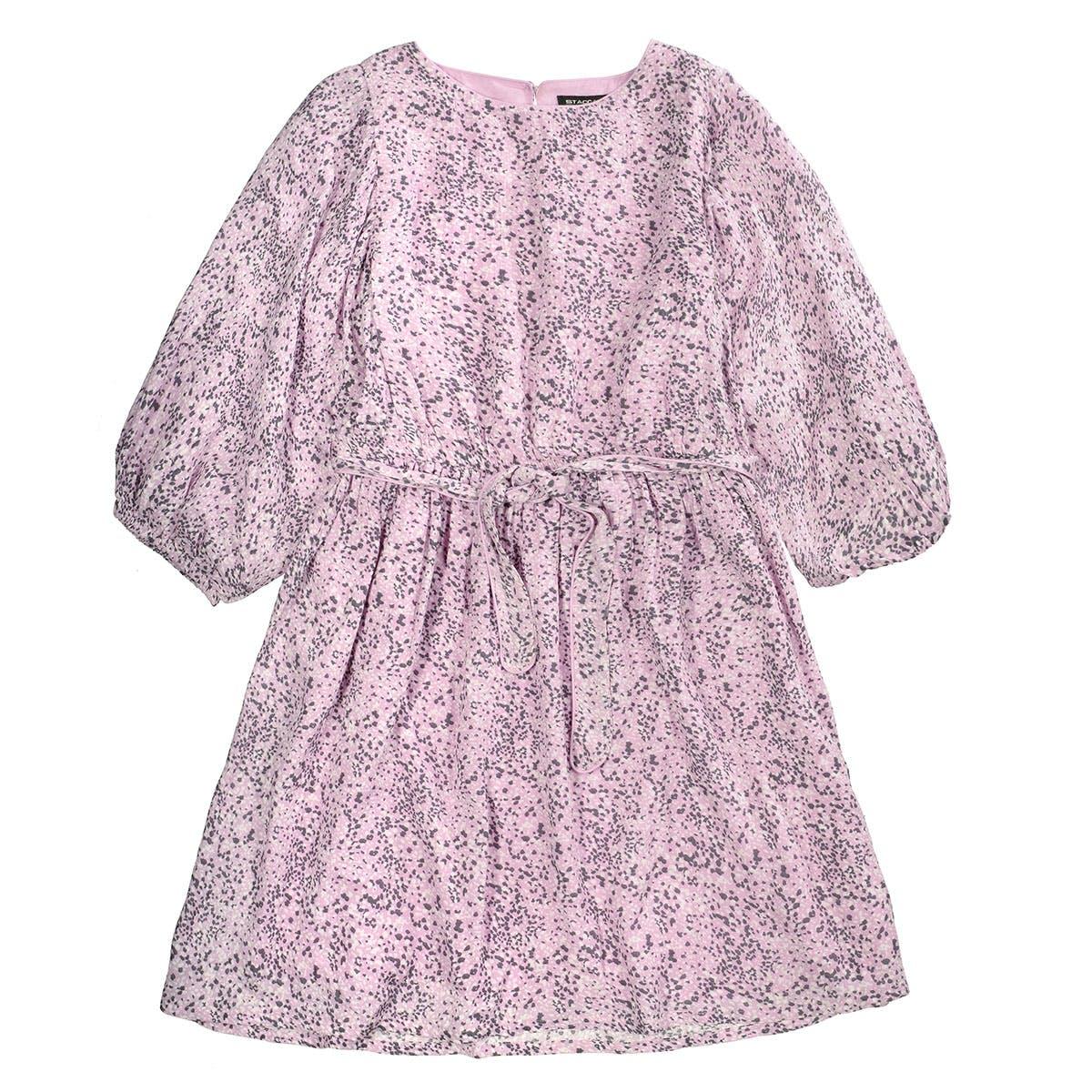 Kleid mit weiten Puffärmel - Vintage