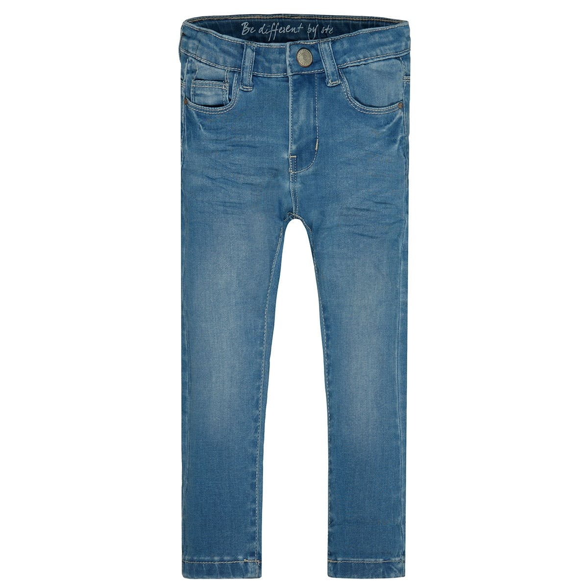 Mädchen Skinny Jeans Regular Fit - EMMA - Mid Blue Denim