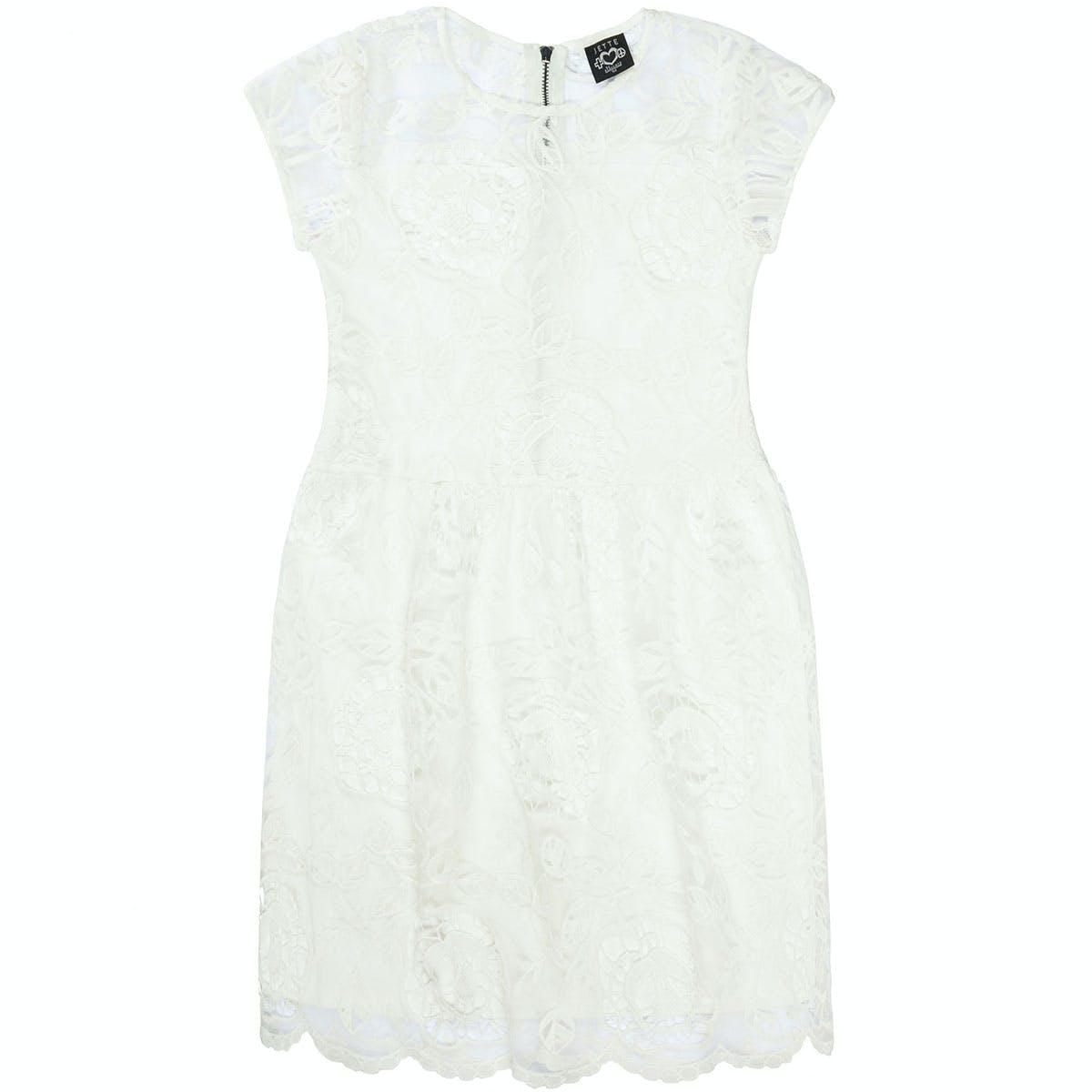 Kleid mit Spitze - Offwhite