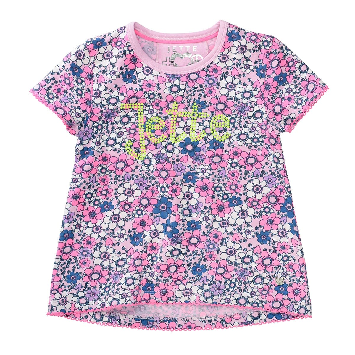 JETTE T-Shirt mit Blumenmuster - Lilac Rosy