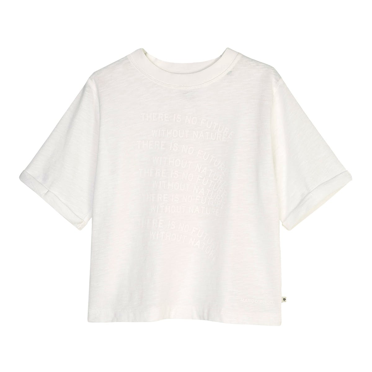 MARC O'POLO T-Shirt mit Statement-Print - Natural White