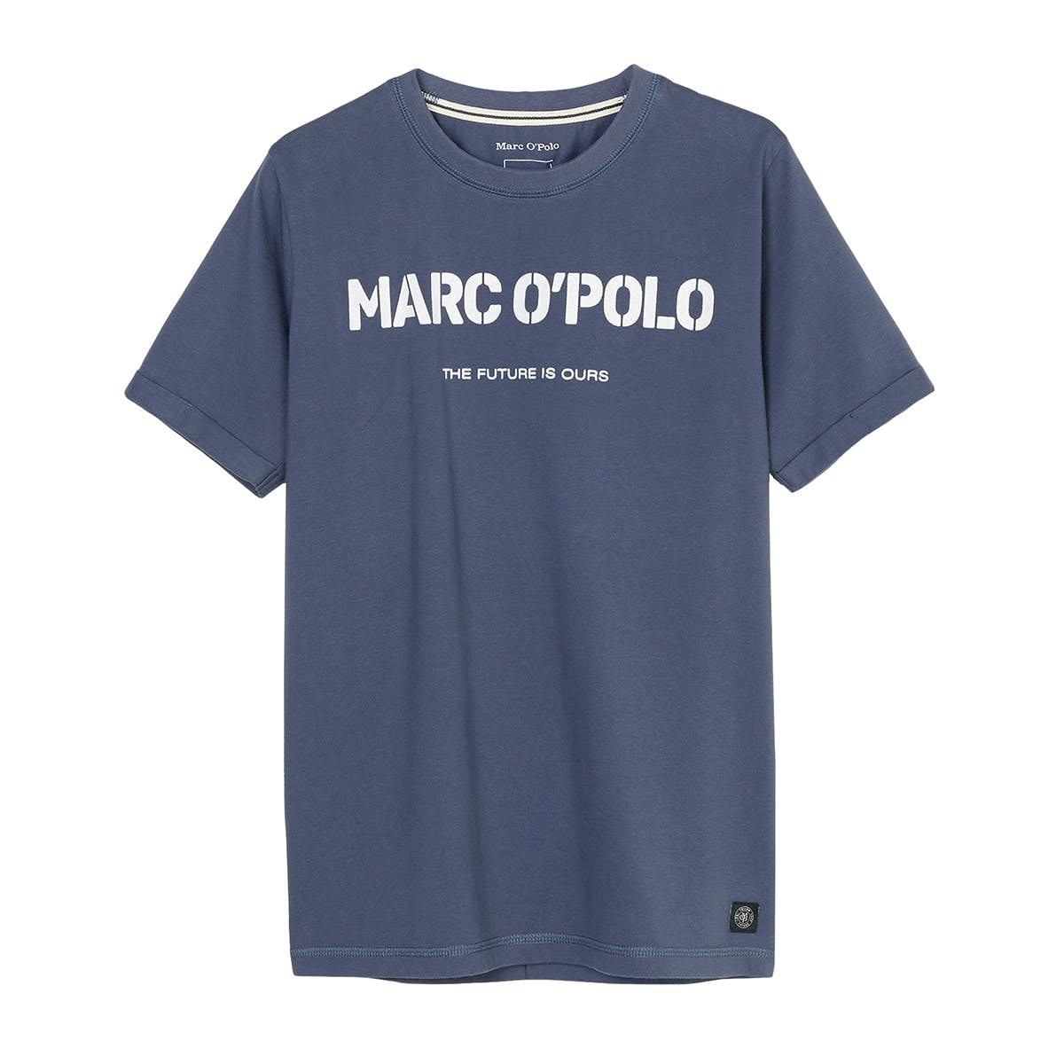 MARC O'POLO T-Shirt mit Logo-Print - Washed Blue