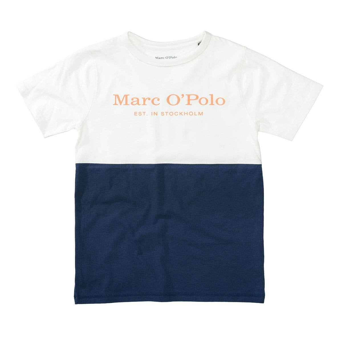 MARC O'POLO T-Shirt aus Bio-Baumwolle - Offwhite Washed Blue