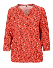 FRY DAY Shirt 3/4 Arm AOP - Spicy Red