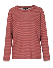 FRY DAY Pullover mit Ringelmuster - Wine