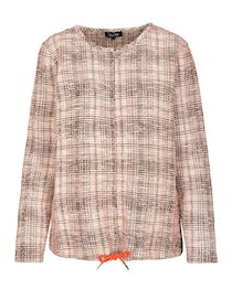 FRY DAY Boucle Cardigan - Summer Coral