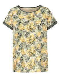 FRY DAY Shirt mit Allover-Print - Sand