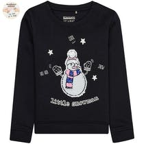 WENDEPAILLETTEN Sweatshirt Little Snowman - Night Blue
