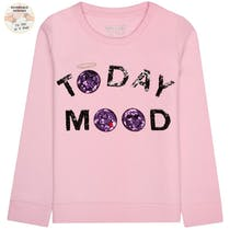 Sweatshirt Today MOOD Wendepailletten – Rose Pink