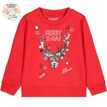 WENDEPAILLETTEN Mini Sweatshirt X-MAS - Chili