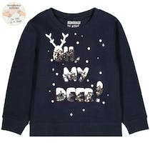 WENDEPAILLETTEN Mini Sweatshirt My Deer - Night Blue