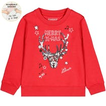 WENDEPAILLETTEN Kids Sweatshirt X-MAS - Chili