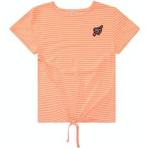 T-Shirt DREAM - Neon Orange Streifen