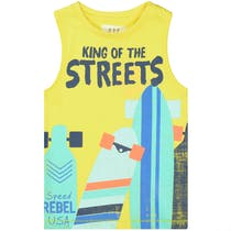 Tanktop KING OF THE STREETS - Bright Yellow