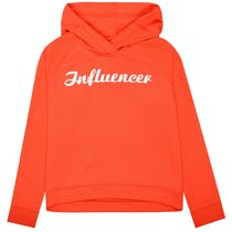 Kapuzensweatshirt Influencer - Bright Orange