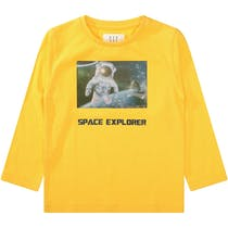 3D Wackelbild Shirt SPACE EXPLORER - Yellow