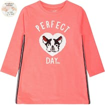WENDEPAILLETTEN Sweatkleid Perfect Day - Neon Red