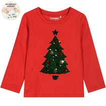 WENDEPAILLETTEN Sweatshirt Tannenbaum - Bright Red