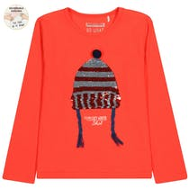WENDEPAILLETTEN Shirt Cozy Winter - Cayenne