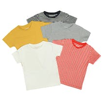 T-Shirt  5er-Pack ORGANIC COTTON - Bunt