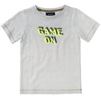 Streifenshirt GAME OVER - Olive