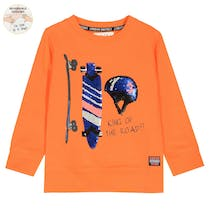 WENDEPAILETTEN Sweatshirt KING OF THE ROAD - Orange