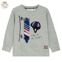 WENDEPAILETTEN Sweatshirt KING OF THE ROAD - Grey Melange